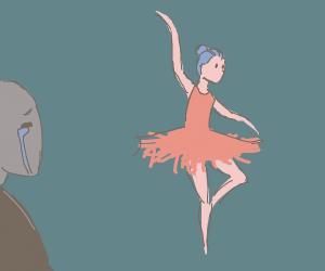 Ballerina makes man cry :(