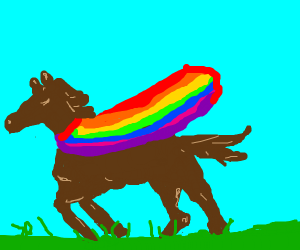 GAY HORSE! (nothing wrong with that.)