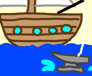 Big boat fishes out anvil