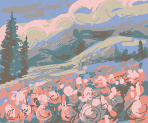 flowery mountain range