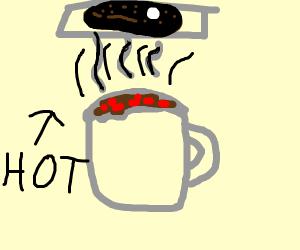 Very hot hot chocolate