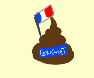 Gormet french cow poop