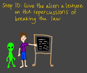 Step 9: Hooray! The alien freed you from jail