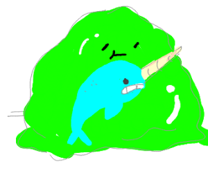 Giant blob eats narwhal