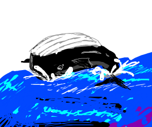 Majestic whale leaping out of the sea