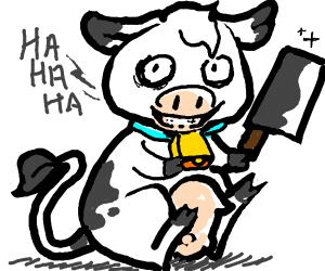 a crazy cow