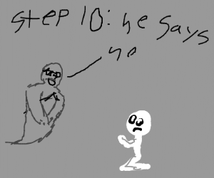 Step 9: Ask ghost of Gandhi for forgiveness