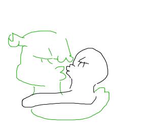 shrek kissing dude