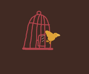 Freeing a golden bird