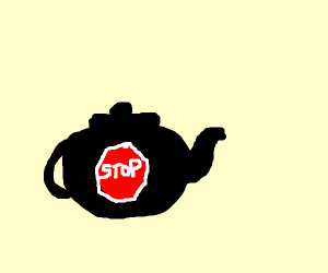 Stop Sign in a Teapot