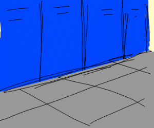 A hall of lockers