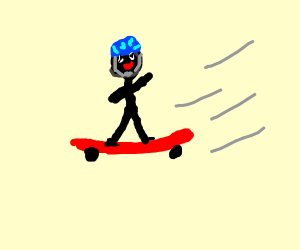 dude on a skateboard