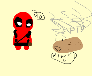 deadpool doesn't want to play hot potato