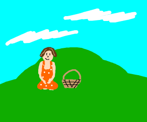 Lady with a basket