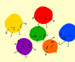 Primary colours bully secondary colours