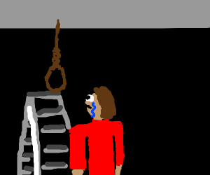 man about to hang himself
