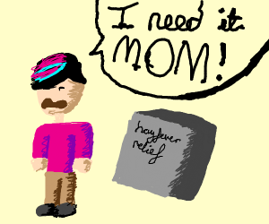 Punk kid needs to buy a tablet, mom