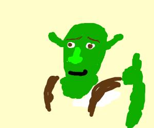 Shrek gives a thumbs up