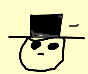 guy in a top hat