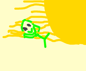 alien sunbathing