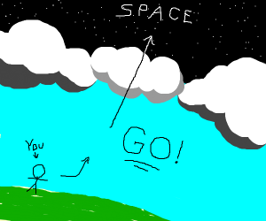 step 3: go to space