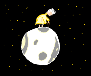 Grandmother on the moon