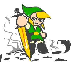 Link destroying clay pot