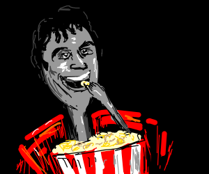 Spoon loves popcorn.