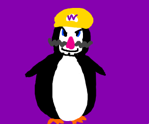 Wario as penguin