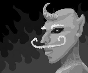Demon with a moustache