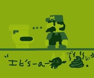 mario bros fixing toilets