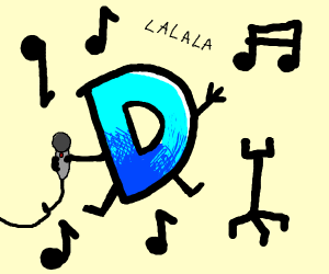 the Drawception D singing