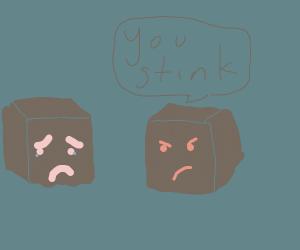 Block shadow thinks other block shadow stinks