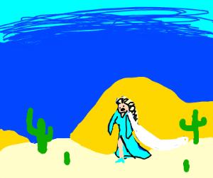 Disney's FROZEN but in the desert