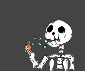 skeleton commits doing drugs