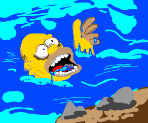 homer is drowning D: