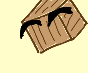 Faceless Tiny Box Tim With Just Eyebrows