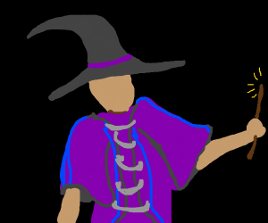 Wizard in purple robes