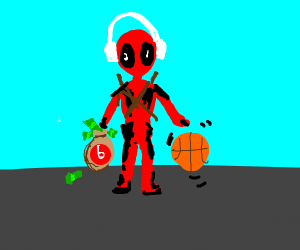 Beats-sponsored Deadpool dribbling