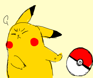 Pikachu says no to Pokeballs.