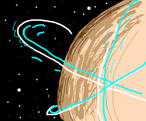 Saturn but with 4 rings