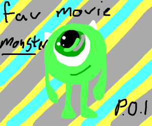 favorite movie monster PIO
