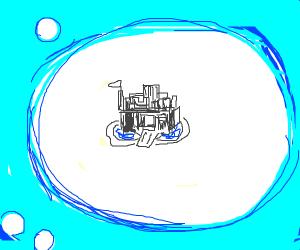 castle in a bubble