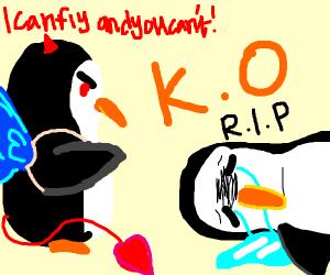 Evil noot penguin vs good noot penguin