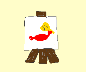 Painting of A Triumphant Crab