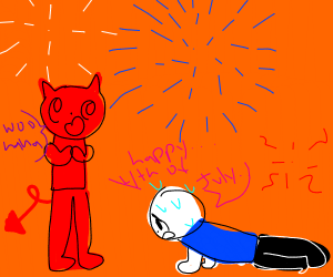 Devil celebrates 4th of July