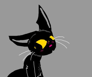 Blushing Black Cat