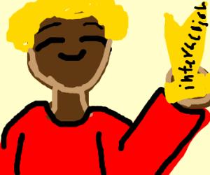 Black and blonde boy awkward interaction