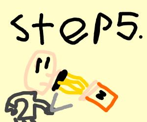 Step 5: Eat the left over noodles