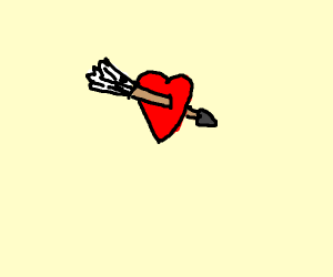 arrow through a heart